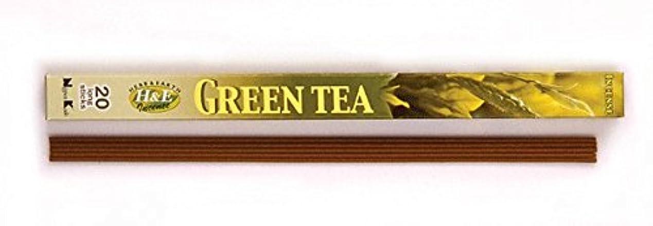 ラッシュ老朽化したお茶HERB&EARTH Incense GREEN TEA グリーンティー スティック 【お香】