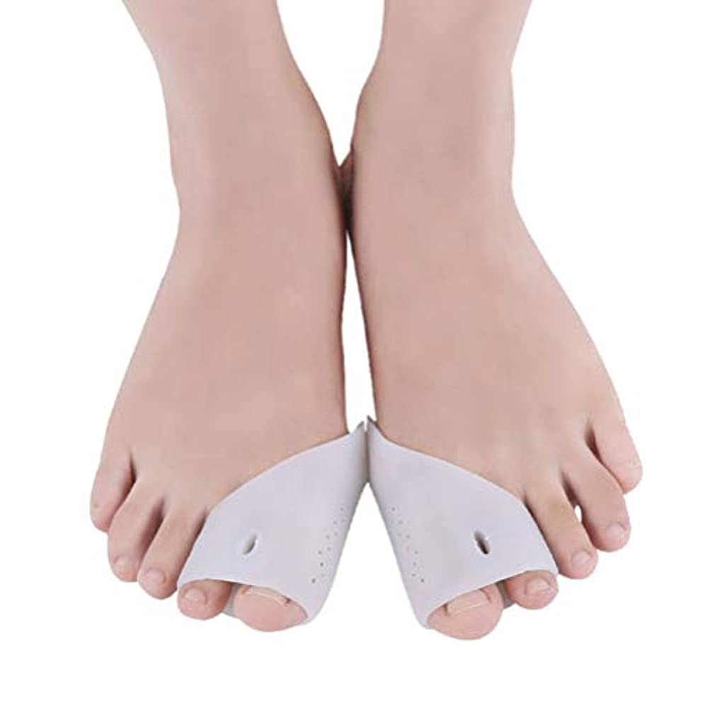 靴下有限メッセンジャーHEALLILY つま先セパレーター3組のつま先補正器ハンマーつま先外反母gus外反母correction矯正用の快適なつま先腱板補正器(白、フリーサイズ)