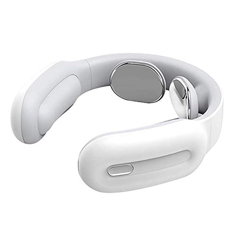 ぬれた感覚対立BEIHUAN 多機能の理性的な頚部および首のマッサージャー、携帯用電気専門のマッサージャーの背部肩の多色刷り任意 (Color : White)