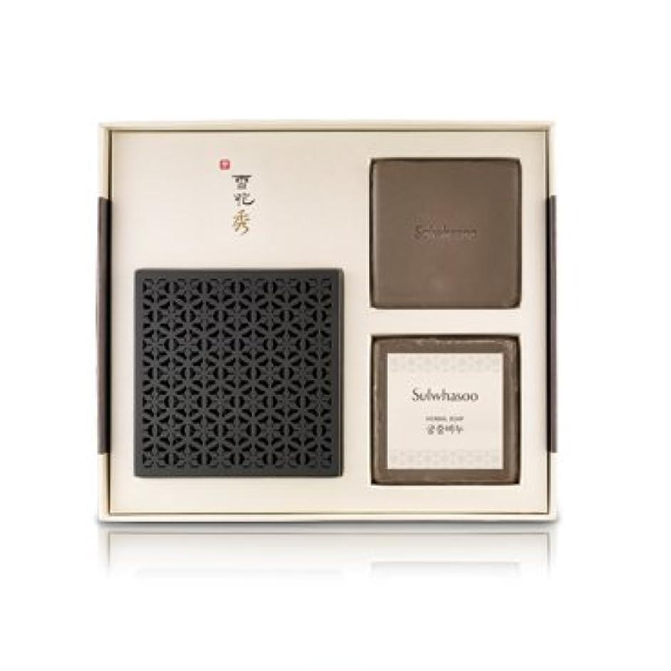 調和のとれた賠償シリング雪花秀(ソルファス)韓方クレンジング石鹸[宮中石鹸(Herbal soap)]100g×2