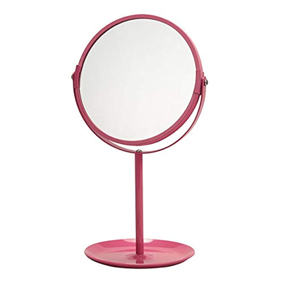 小人試す雨の卓上ミラー 鏡 ミラー 拡大鏡 角度調節 飛散防止ミラー 卓上 メイク 3倍鏡 アイメイク 便利 スタンドミラー 姫 姫系 おしゃれ かわいい ラウンド PUT プット