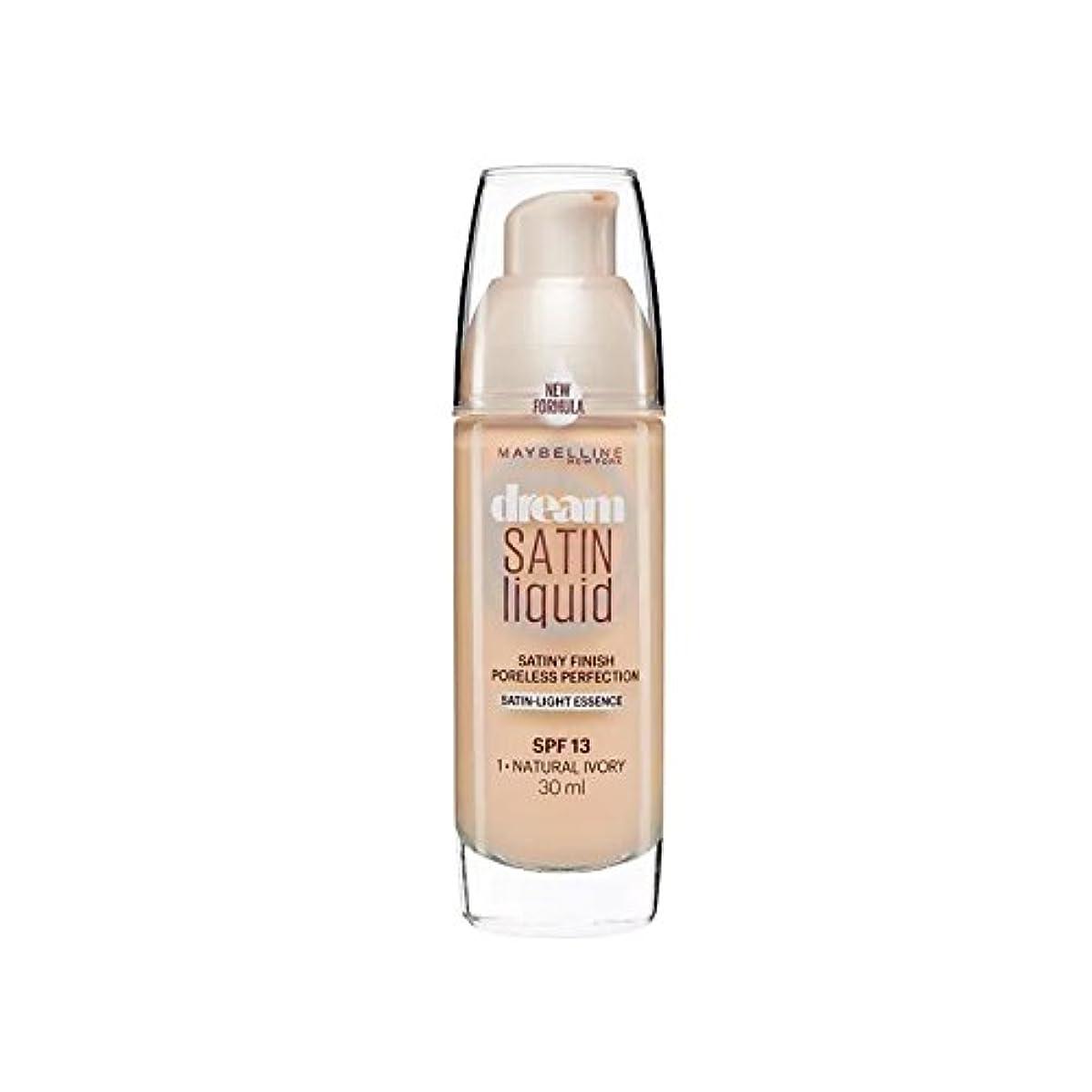 シャックル惑星ビリーMaybelline Dream Satin Liquid Foundation Natural Ivory 30ml (Pack of 6) - メイベリンの夢のサテンリキッドファンデーションナチュラルアイボリー30ミリリットル...