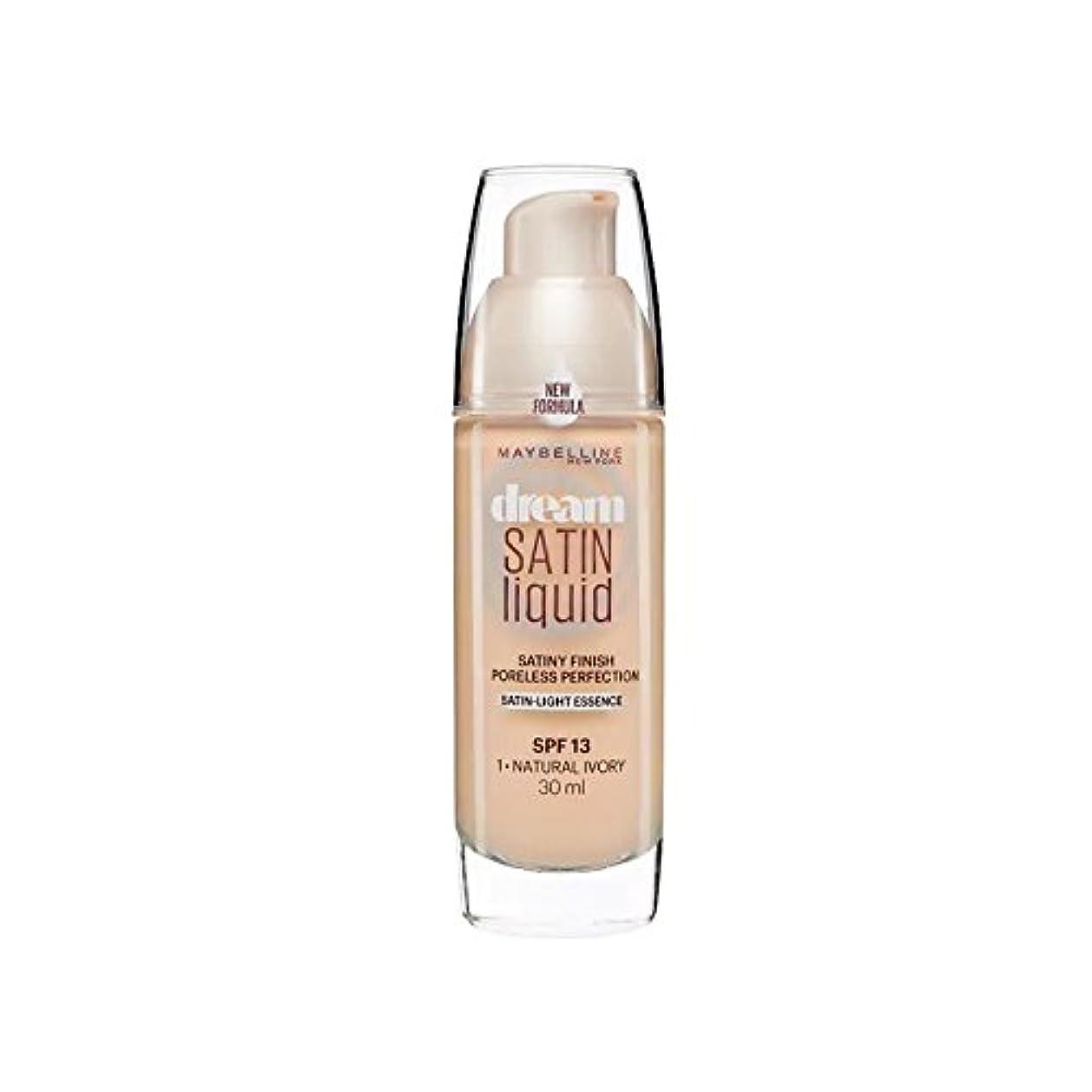 事実寄生虫ティッシュMaybelline Dream Satin Liquid Foundation Natural Ivory 30ml (Pack of 6) - メイベリンの夢のサテンリキッドファンデーションナチュラルアイボリー30ミリリットル...