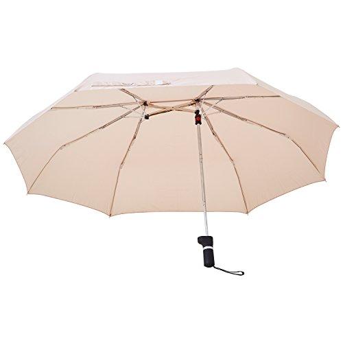 アンファンス 軸をずらした折りたたみ傘 Sharely アーモンド ベージュ...