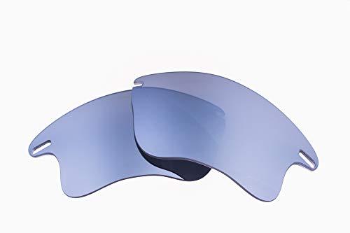 9c8712181f LenzFlip Oakley Fast Jacket XL 交換レンズ 偏光 マルチオプション (Gray Polarized Flash  SILVER Mirror