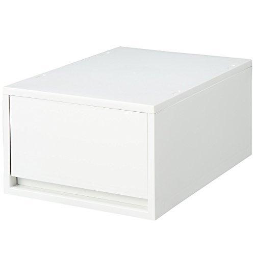 ポリプロピレンケース・引出式・深型・ホワイトグレー (V)約幅26×奥37×高17.5cm 無印良品 日本製