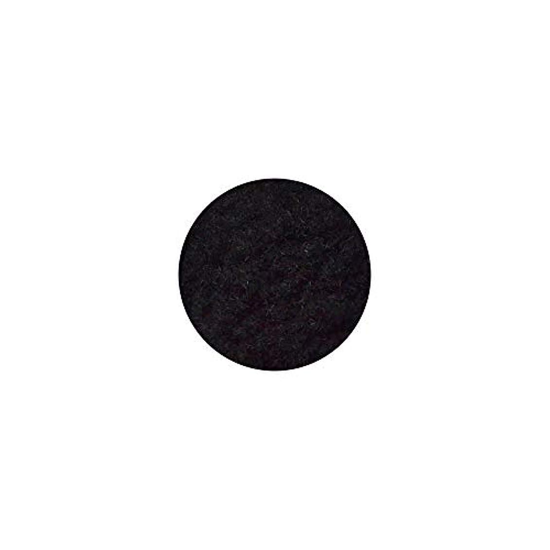 怒って細心のオーナメントベルベットパウダー[ブラック] フェルト ジェルネイル