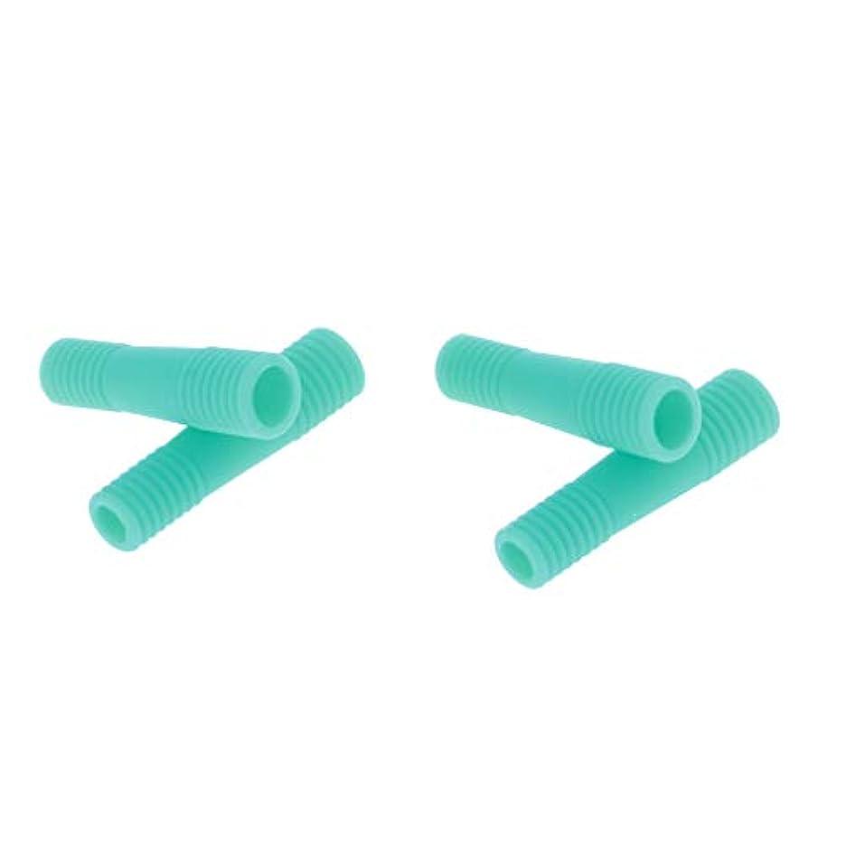 進化耐久振り返るネイルキューティクルハサミケース マニキュアペディキュアツール保護 全5色 - 緑