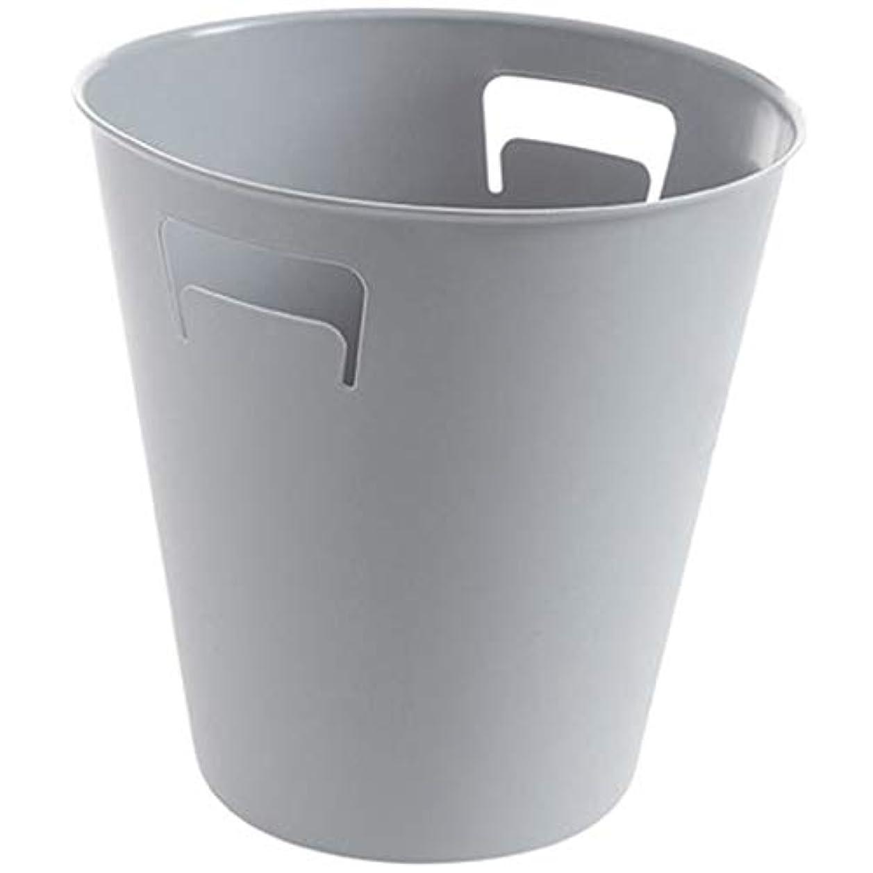 ファブリックシマウマトラフィックIUYWLごみ箱 いいえ圧力リング丸ゴミ箱ゴミ箱pressureキッチン浴室家庭用プラスチックゴミ箱ゴミ箱 IUYWLごみ箱 (Color : Gray)