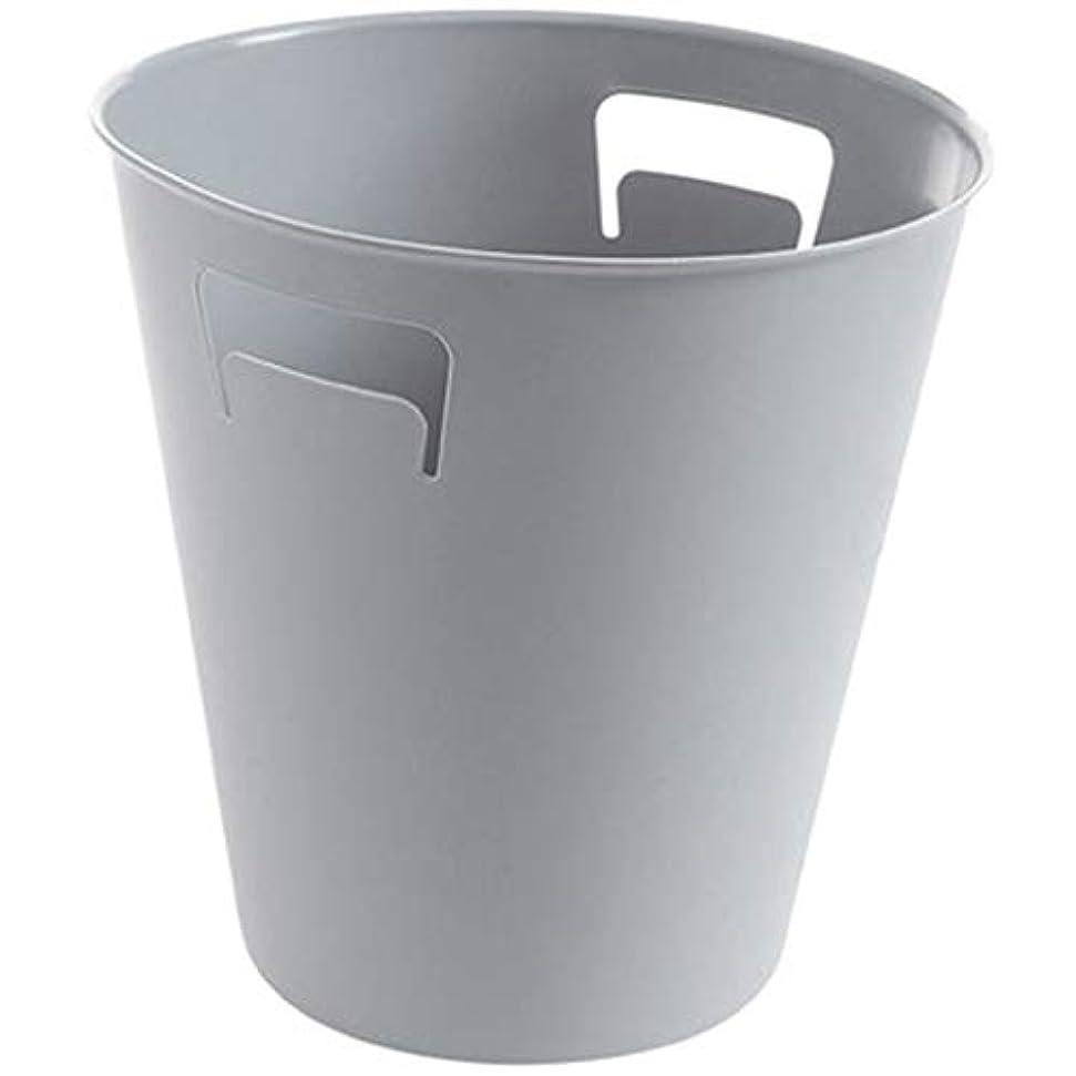 伴う余剰邪魔するIUYWLごみ箱 いいえ圧力リング丸ゴミ箱ゴミ箱pressureキッチン浴室家庭用プラスチックゴミ箱ゴミ箱 IUYWLごみ箱 (Color : Gray)