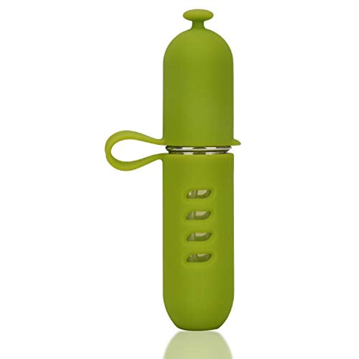 学期アサー想像力MOOMU アトマイザー 香水 スプレー 噴霧器 詰め替え容器 底部充填方式 携帯用5ml (グリーン)