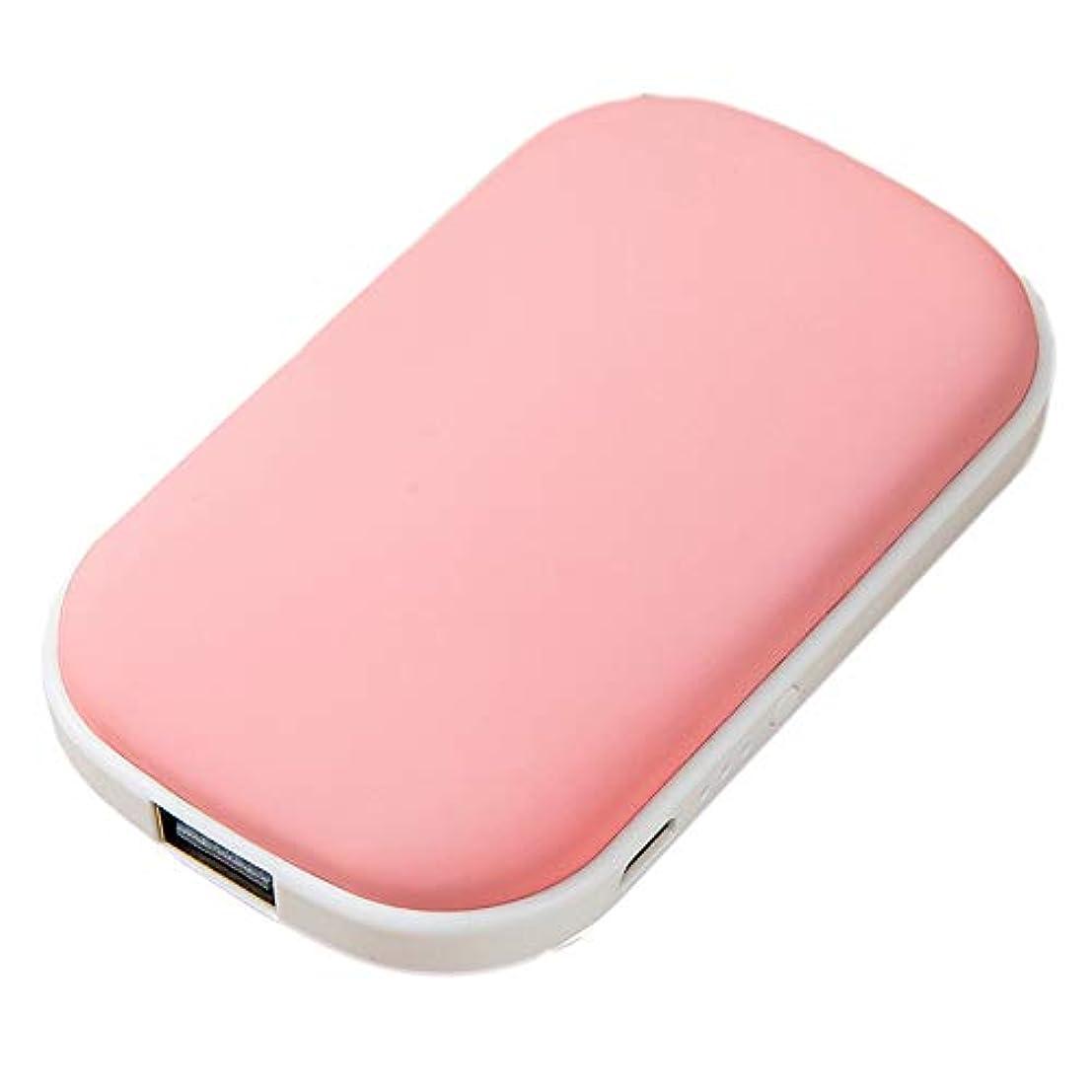 克服するバター準備ができてCAICOLOUR 充電式ハンドウォーマーモバイルパワー5200mAh USBポータブルコブルストーン両面ポケットヒーター(グリーン/ピンク/ブルー)