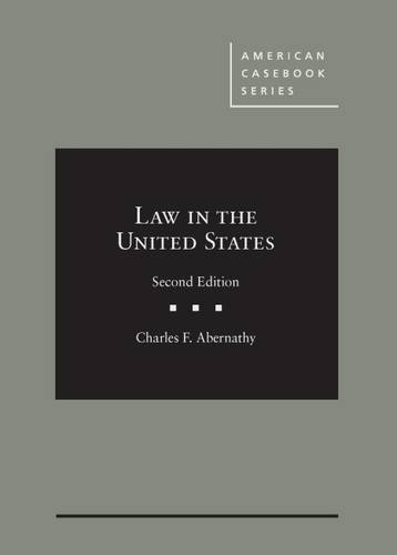Download Law in the United States (American Casebook) 0314267018