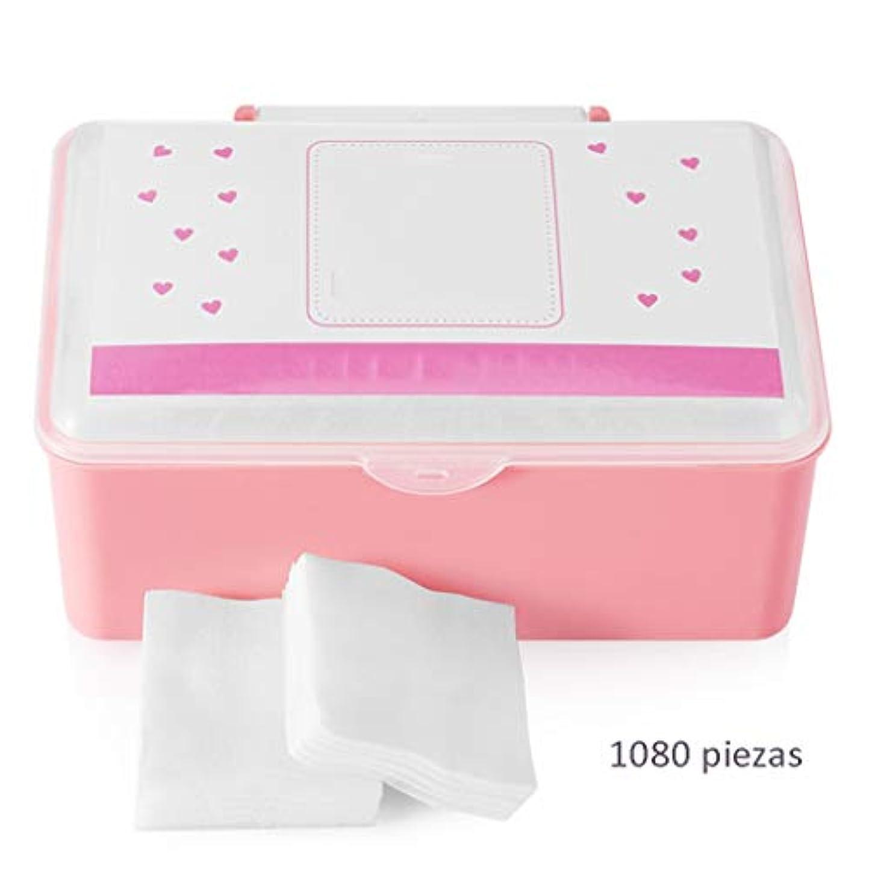 医療過誤使役採用クレンジングシート コットンコットンクレンジングコットン女性の顔クリーンコットンパッドスクエアコットンパッド薄い水和ウェットドレスボックス(1080) (Color : White, サイズ : 5*6cm)