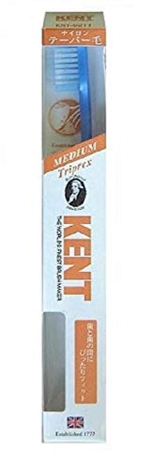 直感浸透するハシーKENT(ケント) トリプレックス ナイロン歯ブラシ ふつう KNT9211 パールブルー