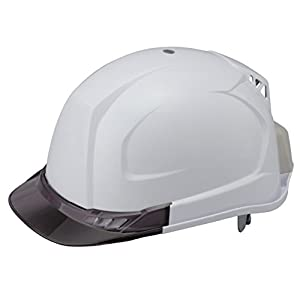 TOYO 送風機内蔵ヘルメット 白 ひさし/スモーク NO.394F-S