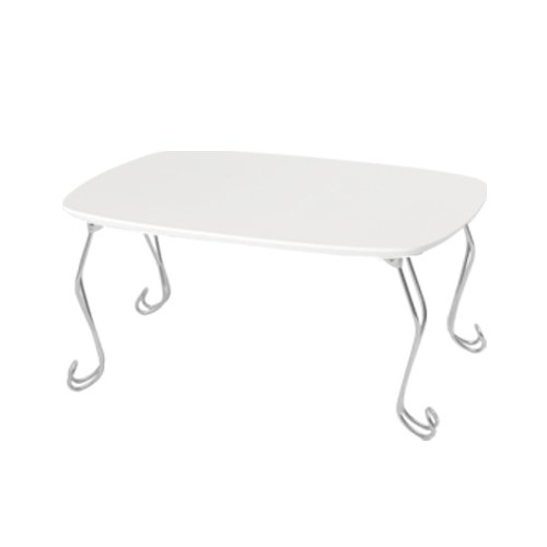 猫足ミニテーブル 折りたたみ センターテーブル コンパクト ねこあし ローテーブル 折れ脚 机 ホワイト