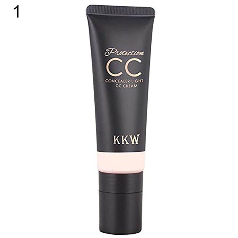 ストライプ光のフレームワークフェイスコンシーラーContouring Foundation CCクリーム保湿メイクアップ化粧品 - アイボリーホワイト