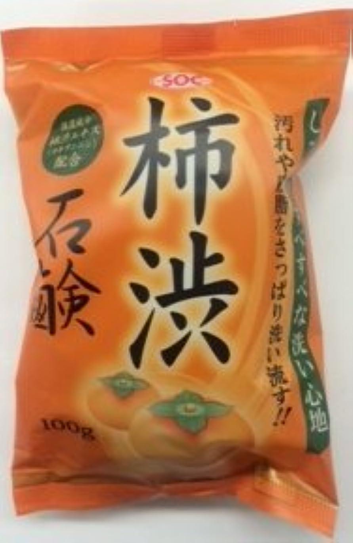 後悔フレッシュ伝導渋谷油脂 SOC 柿渋石鹸 100G (固形石鹸)×72点セット (4974297330118)