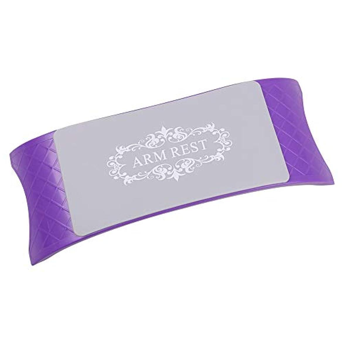 好きである仕方ライセンス5色 高品質 快適 シリコンハンドレストクッション枕 ネイルアート テーブルアーム 手首パッド マニキュア サロン(02)