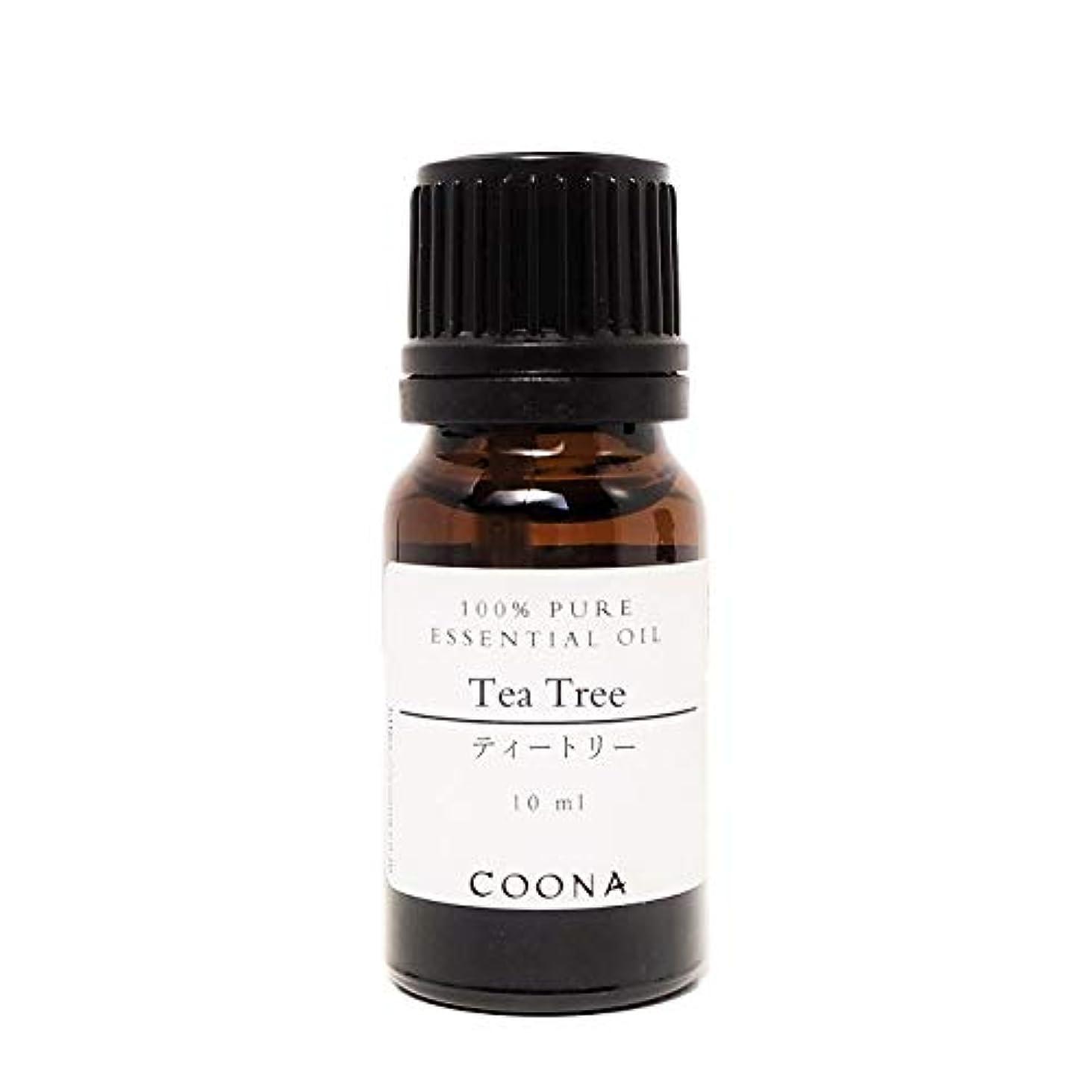 赤字破裂皮肉ティートリー 10 ml (COONA エッセンシャルオイル アロマオイル 100%天然植物精油)