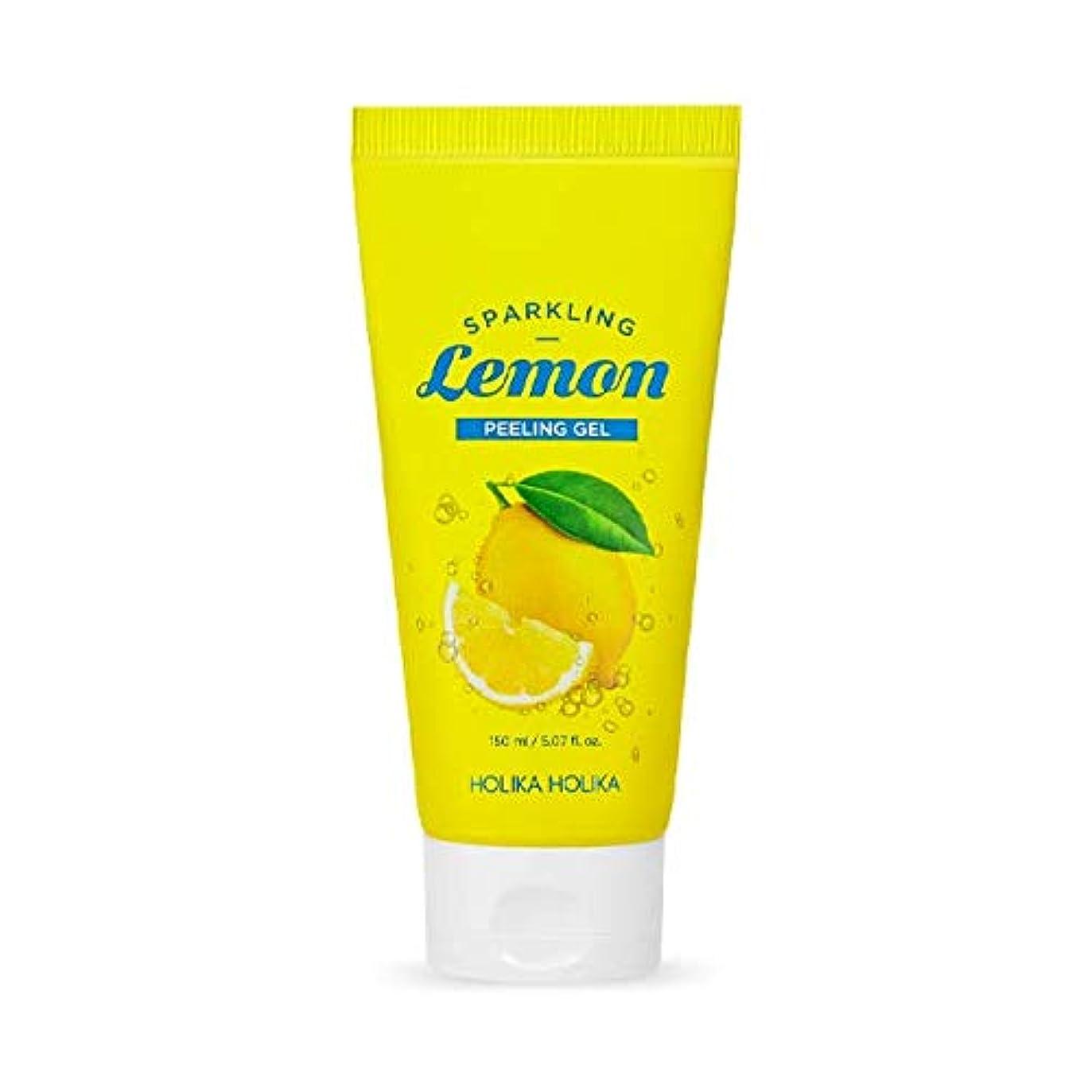 砂利施設担保ホリカホリカ 炭酸レモンピーリングジェル/HOLIKA Sparkling Lemon Peeling Gel 150ml 韓国コスメ [並行輸入品]