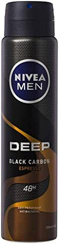 NIVEA Men Deep Espresso Aerosol Antiperspirant Deodorant Spray, 250 ml
