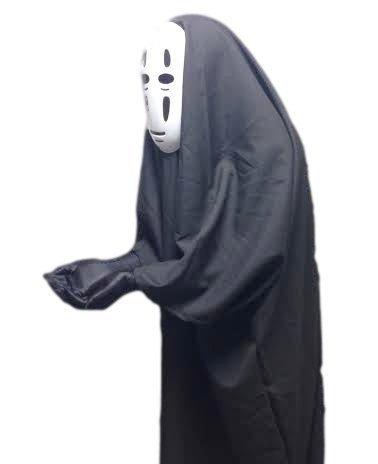 千と千尋の神隠し カオナシ 風 衣装セット (衣装、マスク、手袋) コスチューム 男女共用 フリーサイズ