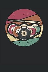 Billard Notizbuch (liniert) Billardspieler Vintage