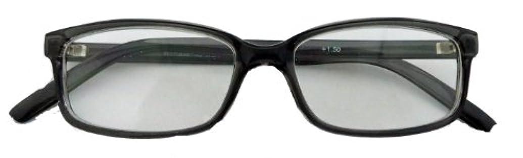ワームス シニアグラス WT-338 クリアグレー +1.00(老眼鏡)