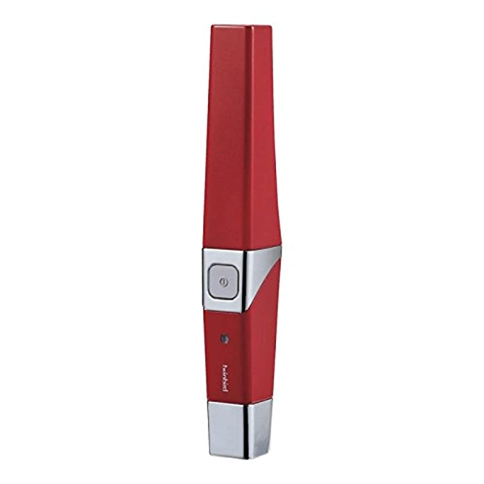 倒産大精神医学ツインバード 音波振動式USB充電歯ブラシ ACアダプター付 レッド BD-2757R