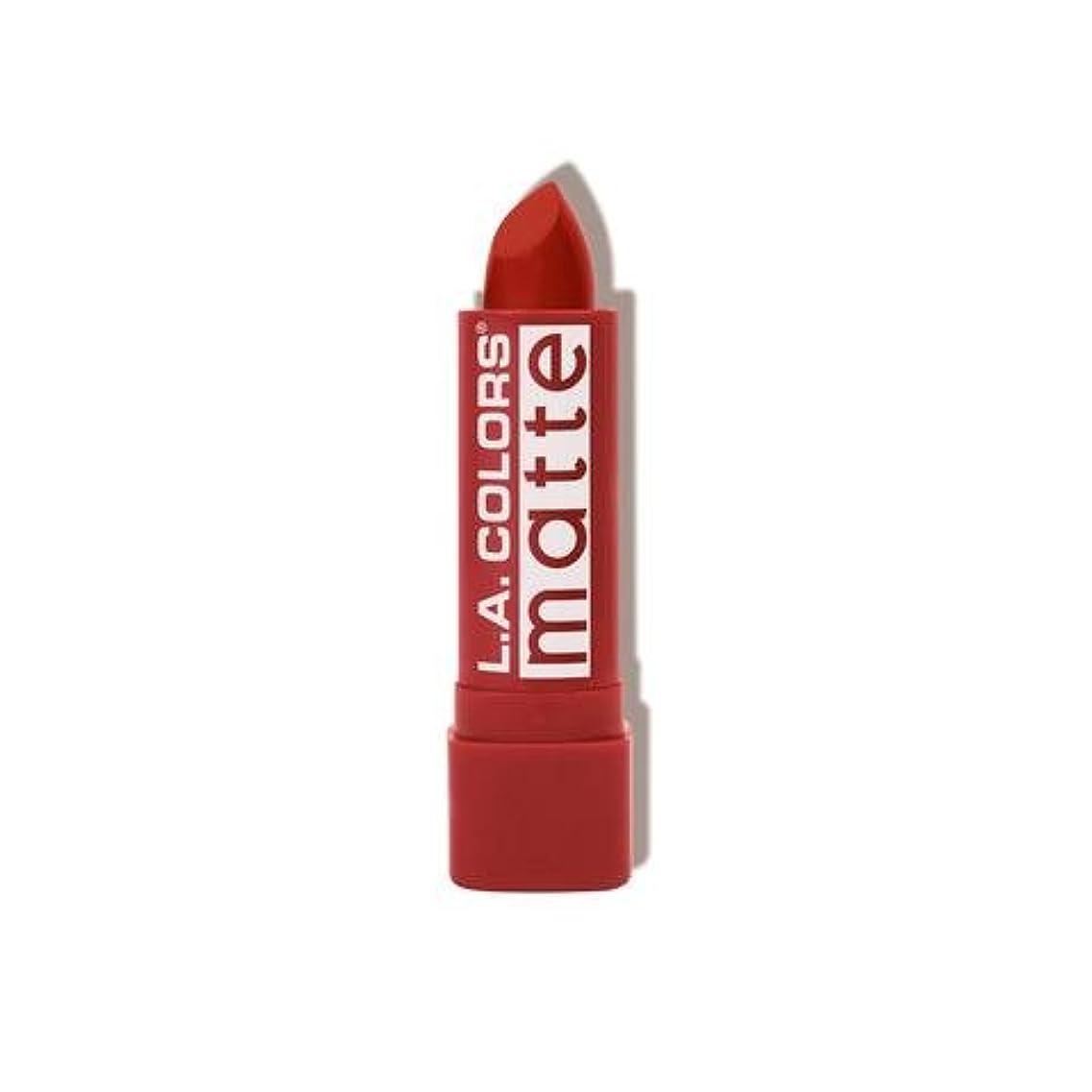 毎月がっかりした面積(3 Pack) L.A. COLORS Matte Lip Color - Red Tango (並行輸入品)