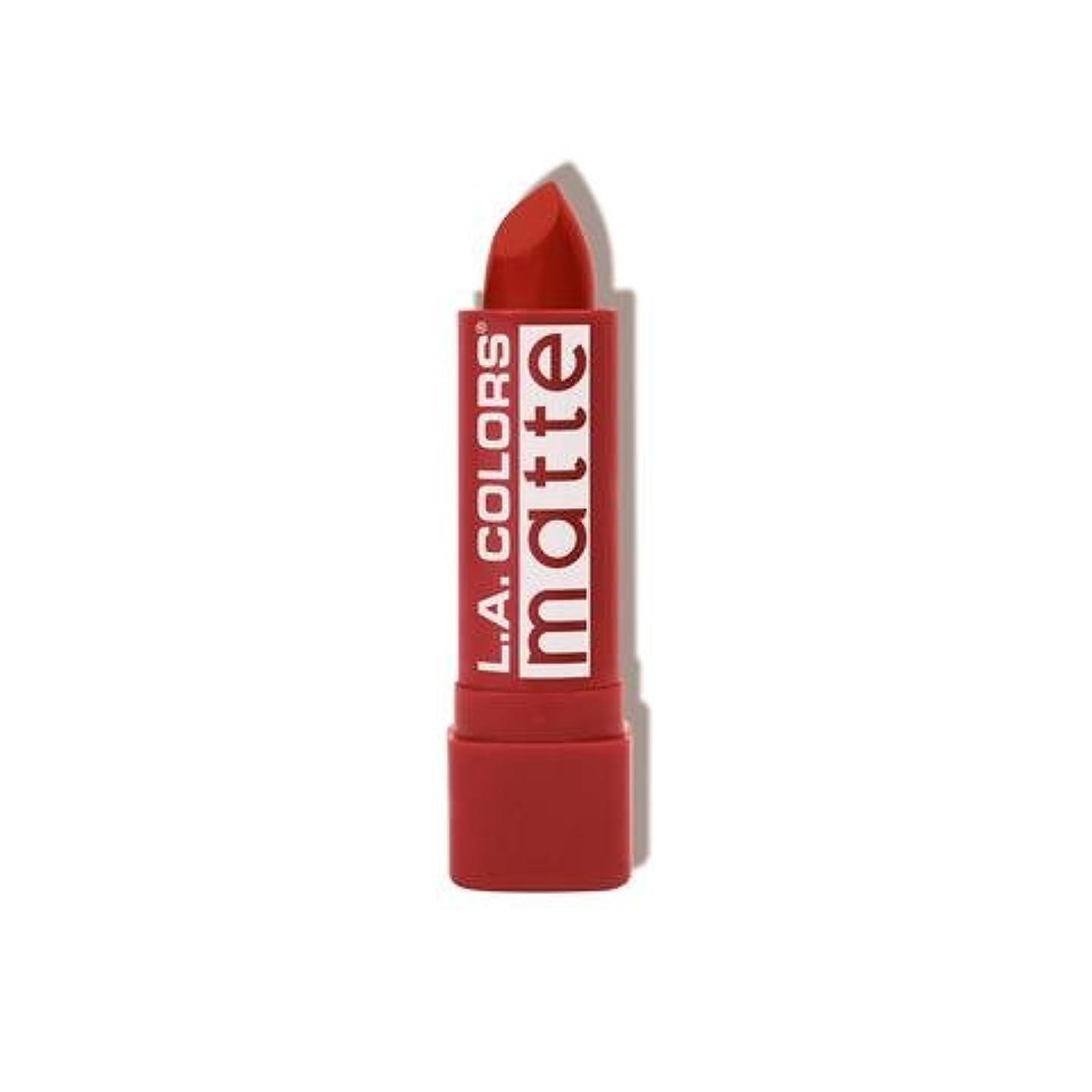 欺くアンタゴニスト環境に優しい(3 Pack) L.A. COLORS Matte Lip Color - Red Tango (並行輸入品)