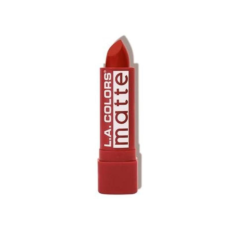 オーバーコート劇的丘(3 Pack) L.A. COLORS Matte Lip Color - Red Tango (並行輸入品)
