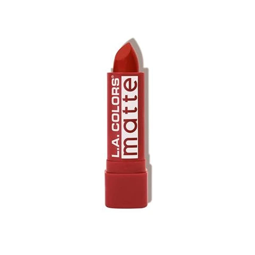 逃げる無人聖なる(3 Pack) L.A. COLORS Matte Lip Color - Red Tango (並行輸入品)