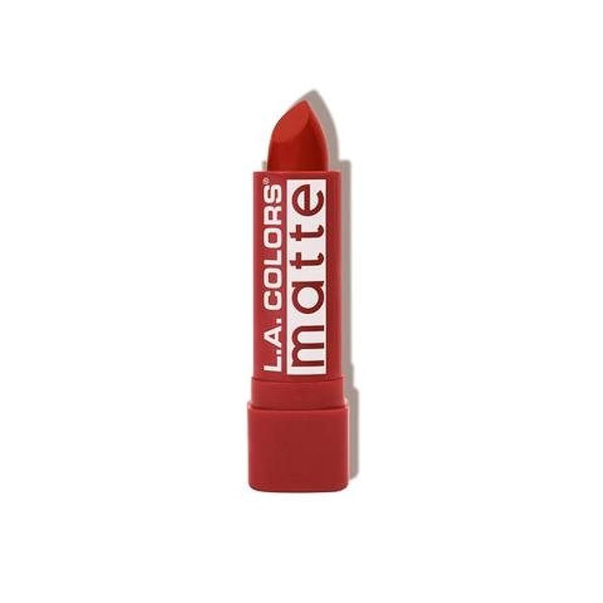 後方無力割り当てます(3 Pack) L.A. COLORS Matte Lip Color - Red Tango (並行輸入品)