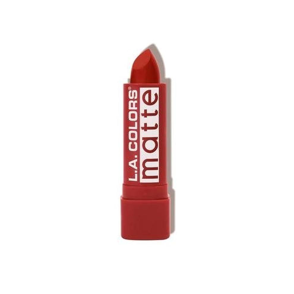 実際の原始的な中毒L.A. COLORS Matte Lip Color - Red Tango (並行輸入品)