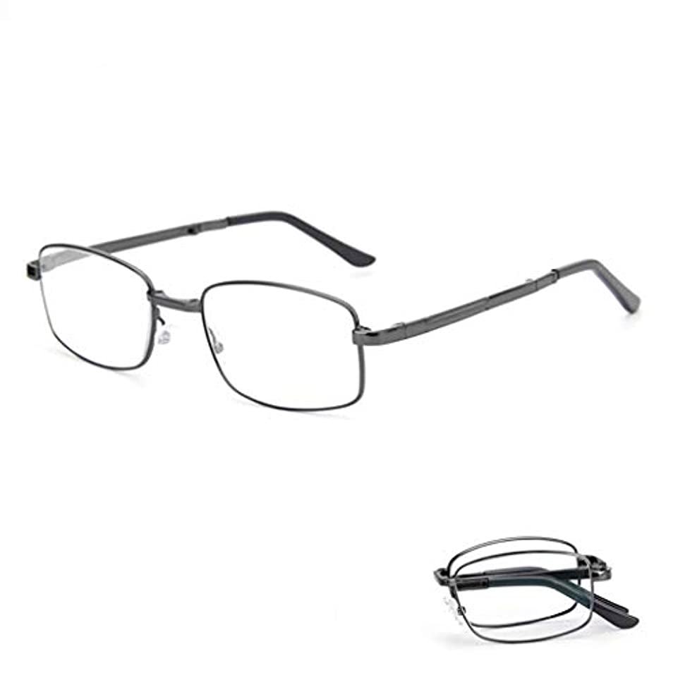 インテリジェント老眼鏡 老眼鏡、折り畳み式老眼鏡、青色光遮断メガネ、コンパクト折り畳み式アンチブルーレイコンピューターメガネ、合金フルフレームユニセックスメガネにはメガネケース、樹脂レンズ、頑丈なヒンジが含まれます