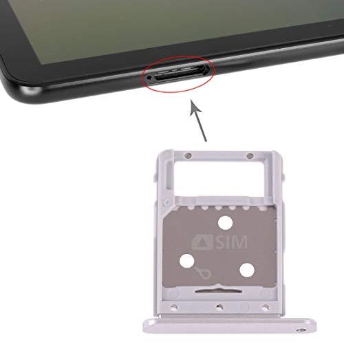 携帯電話の交換部品 SIMカードトレイ+ Galaxy Tab S4 10.5 T835用マイクロSDカードトレイ (色 : 銀)