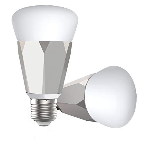 アレクサ電球 amazon alexa/google home/IFTTT対応で音声制御できるスマートled電球 スマホで遠隔操作でき...