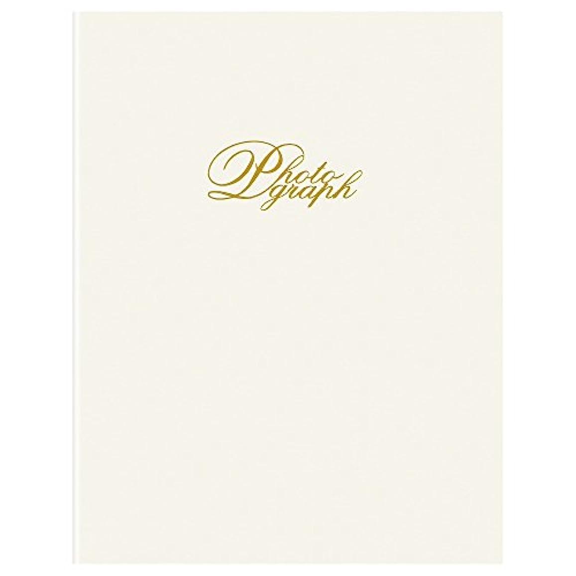 印刷する岸アリーナHAKUBA 写真台紙 インサート台紙 No.300 2L タテ 1面 簡単差込み式 ホワイト M300-WT2LT