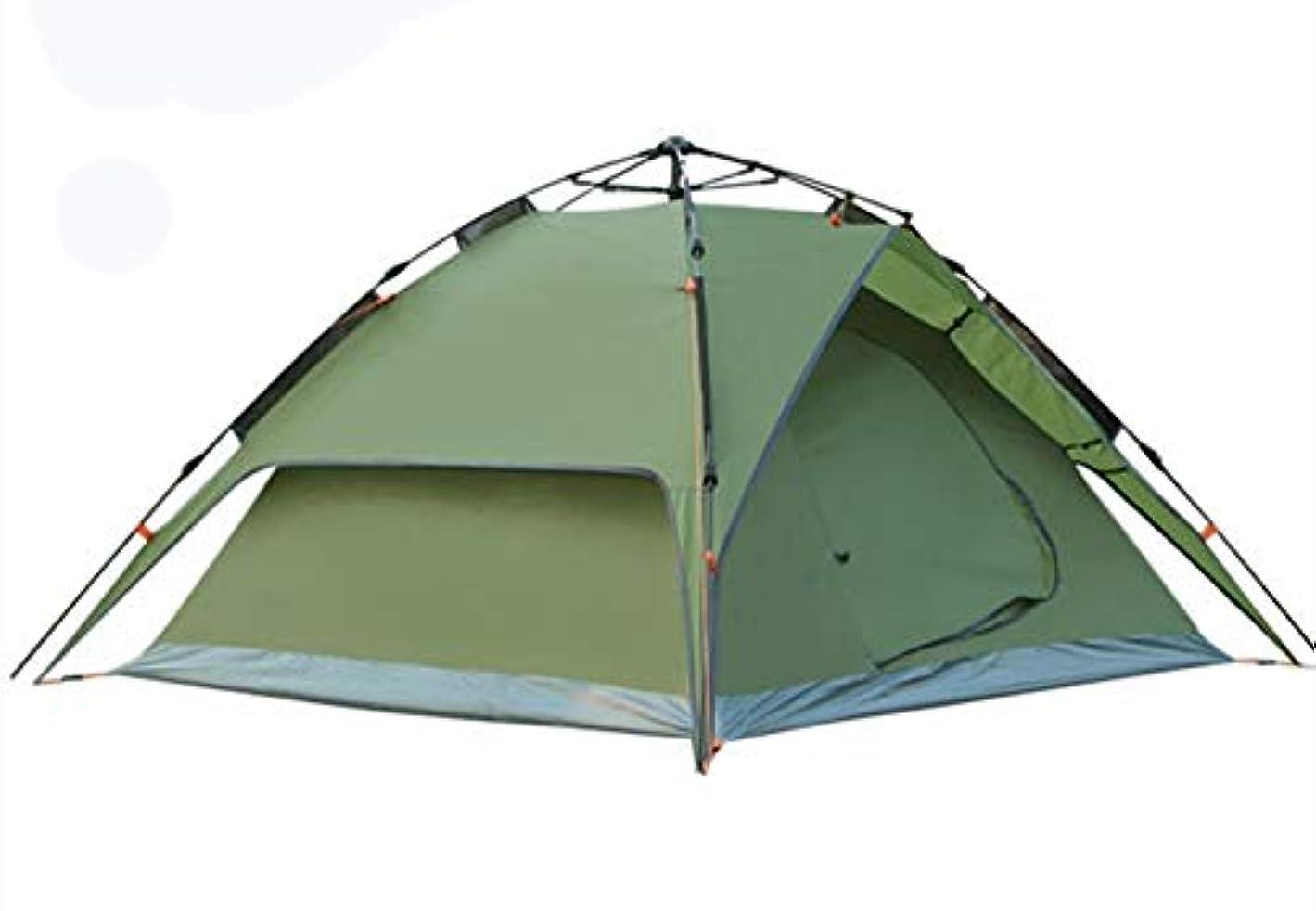 とらえどころのないクモ防腐剤テント屋外3-4人雨キャンプテント二部屋一ホール野生二重層キャンプ自動スピードオープンビーチテント