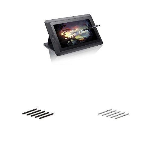 ワコム 液晶ペンタブレット 13.3フルHD 【2015年モデル】 DTK-1301/K0 + オプション替え芯 標準芯/ストローク 各5本入り セット