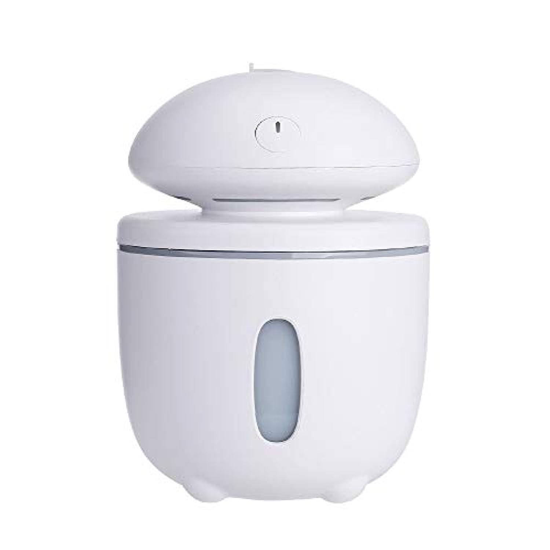 空気加湿器ミニクリエイティブ大きなキノコのオフィス車のデスクトップ多機能大容量水和小型家電 (色 : 白)
