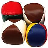 WINOMO ジャグリングボール お手玉 ビーンバッグ 子供 レザー 遊ぶ おもちゃ 4本セット(ランダムカラー)