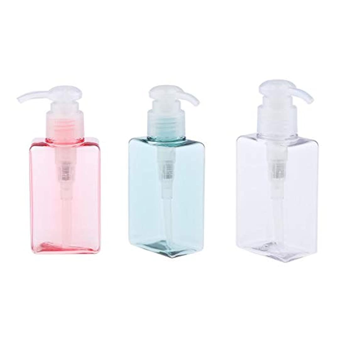 忙しい柔らかい技術者gazechimp 3個 ポンプボトル エアレスポンプ 空の化粧ボトル 漏れ防止