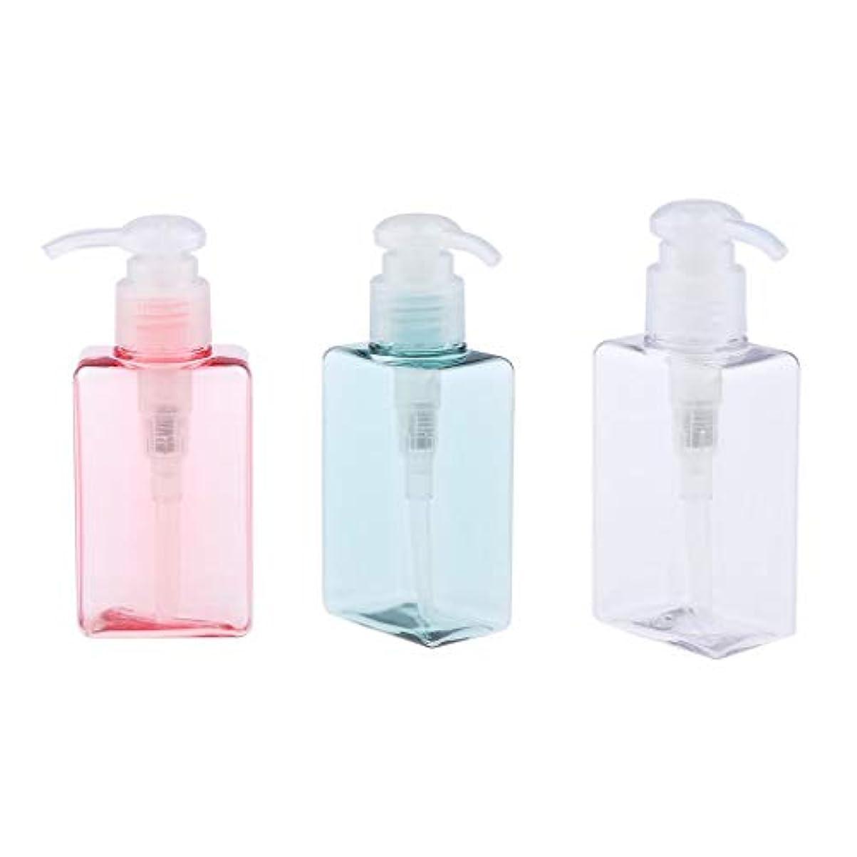 gazechimp 3個 ポンプボトル エアレスポンプ 空の化粧ボトル 漏れ防止