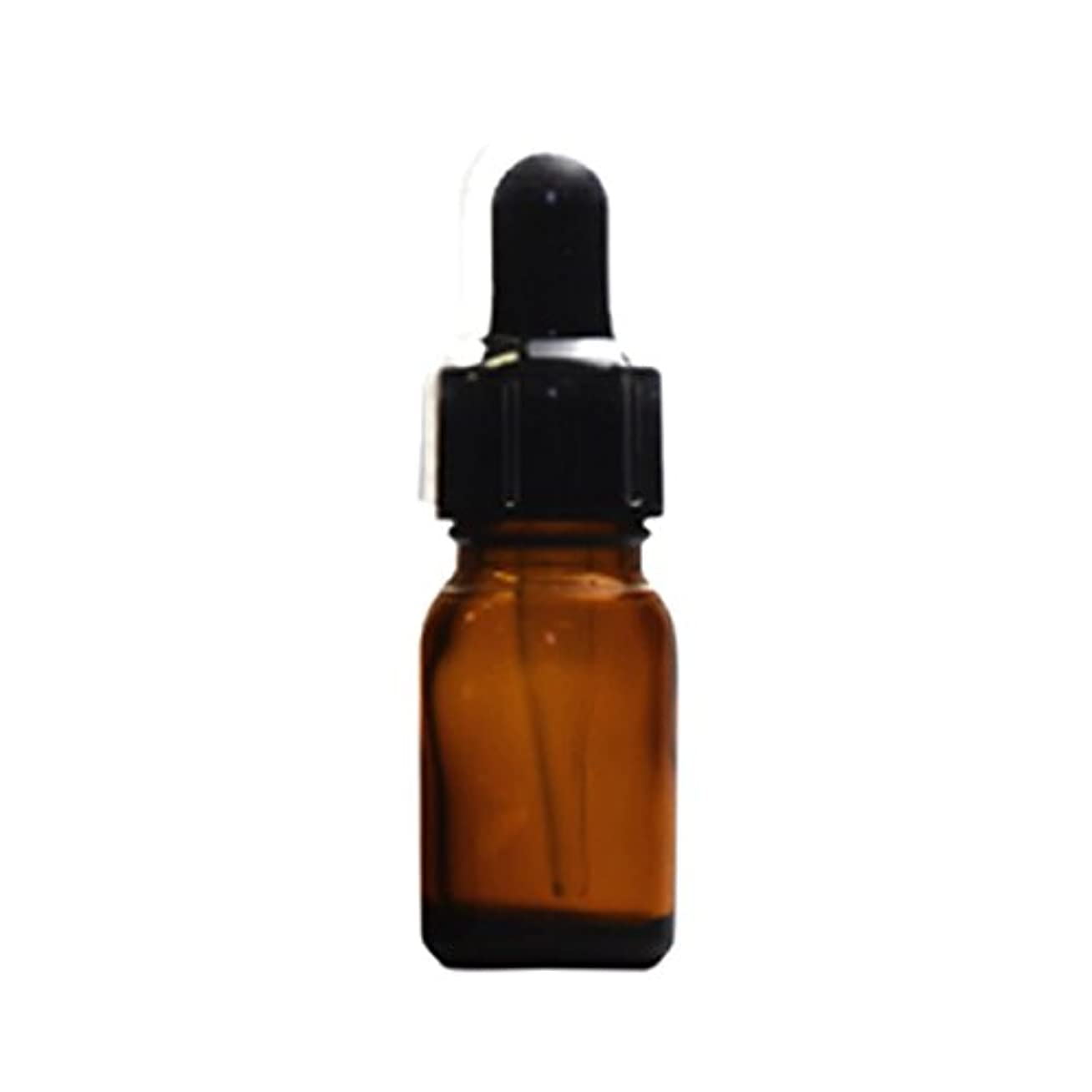 スポイトキャップ付茶色遮光瓶10ml(黒/ガラススポイトキャップ付/オーバーキャップ付)