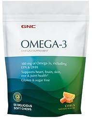 GNC FISH, オメガ3ソフトキャンディ, シトラスフレーバー, 50粒