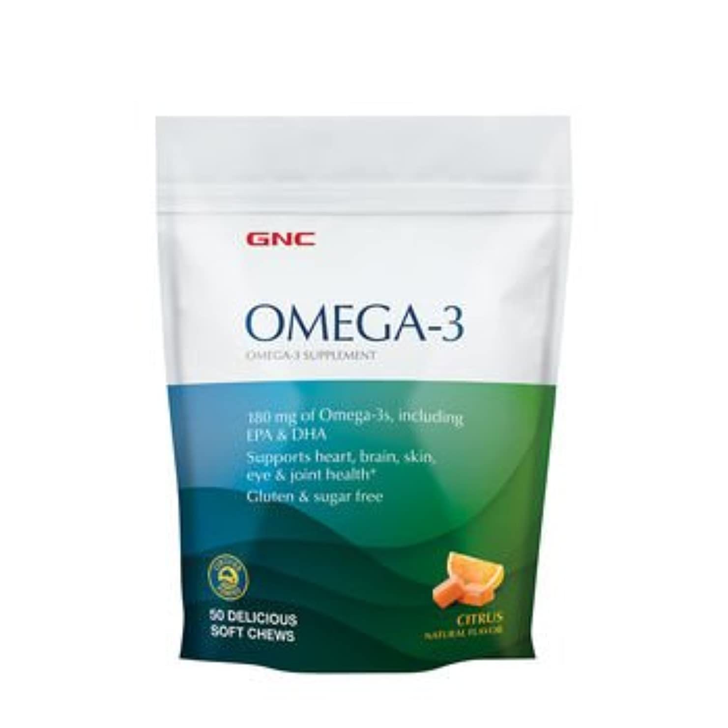 さらにまたはどちらか強化GNC FISH, オメガ3ソフトキャンディ, シトラスフレーバー, 50粒